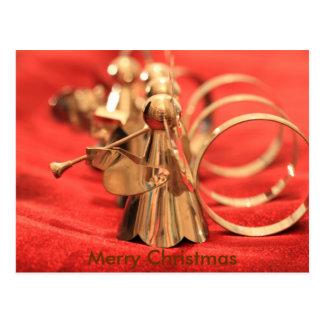 Pequeños ángeles de Christmascard rojos Postal
