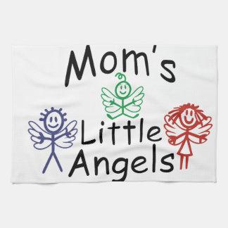 Pequeños ángeles de las mamáes toalla de cocina