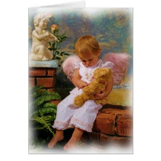 Pequeños ángeles tarjeta de felicitación
