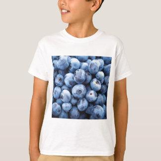 Pequeños arándanos azules - impresión de la fruta poleras