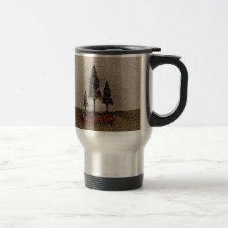 Pequeños árboles felices tazas de café