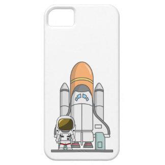Pequeños astronauta y nave espacial iPhone 5 fundas