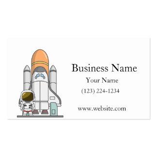 Pequeños astronauta y nave espacial plantillas de tarjetas de visita