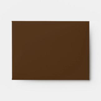 Pequeños azul/sobre de Brown Polkadots Sobre