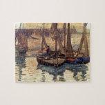 Pequeños barcos de pesca de Mauricio Prendergast-, Puzzle Con Fotos