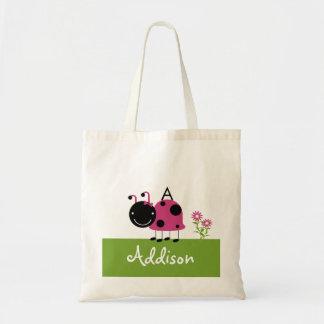 Pequeños bolsos de los chicas del rosa de la mariq bolsa lienzo