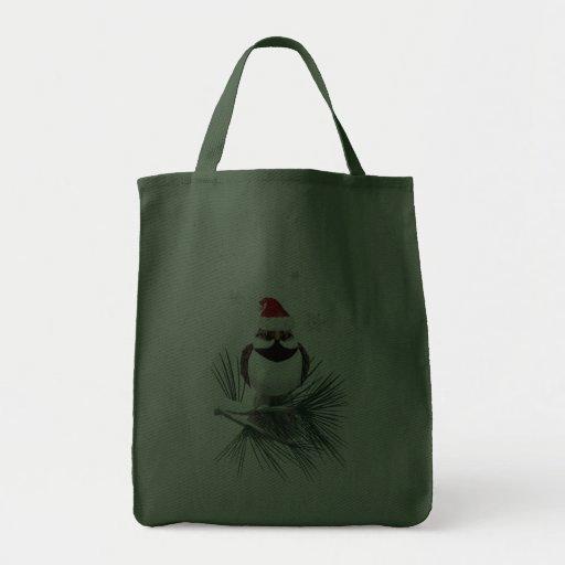 Pequeños bolsos del gorrión de Santa Bolsa Lienzo