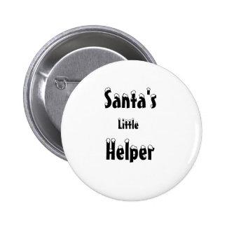 Pequeños botón/insignia del ayudante de Santa Pin Redondo De 2 Pulgadas