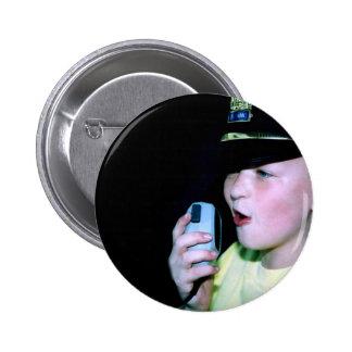 Pequeños botón redondo del oficial 6 pin redondo de 2 pulgadas