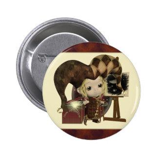 Pequeños botones del artista del bufón pin redondo de 2 pulgadas