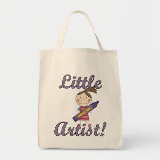 Pequeños camisetas y regalos del artista bolsa lienzo
