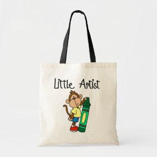 Pequeños camisetas y regalos del artista del mono bolsas de mano