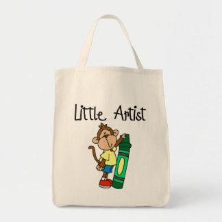 Pequeños camisetas y regalos del artista del mono bolsas