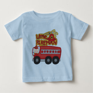 Pequeños camisetas y regalos del bombero del motor playera para bebé