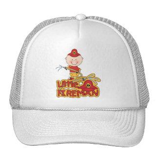 Pequeños camisetas y regalos del bombero gorras de camionero