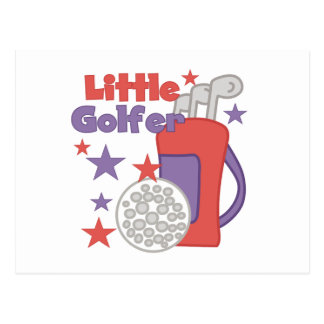 Pequeños camisetas y regalos del golfista tarjeta postal