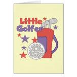Pequeños camisetas y regalos del golfista tarjetas