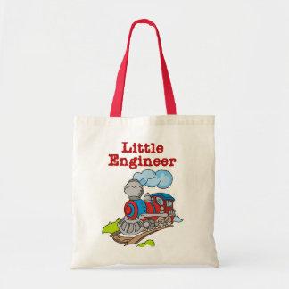 Pequeños camisetas y regalos del ingeniero bolsas lienzo