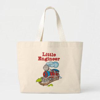 Pequeños camisetas y regalos del ingeniero bolsa de mano