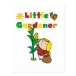 Pequeños camisetas y regalos del jardinero del postal