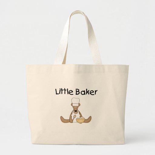 Pequeños camisetas y regalos del panadero bolsa tela grande