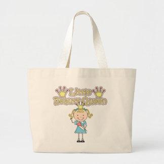 Pequeños camisetas y regalos rubios de la reina de bolsa tela grande