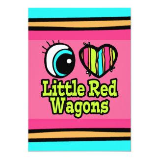 Pequeños carros rojos del ojo del amor brillante invitación 12,7 x 17,8 cm