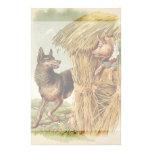Pequeños cerdos del vintage tres; Malos lobo y cer Papelería De Diseño