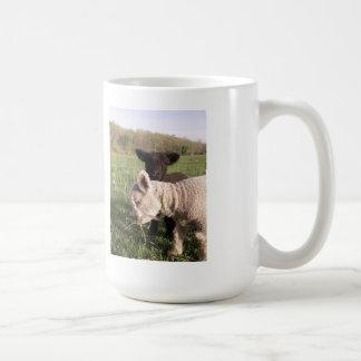 Pequeños corderos taza de café