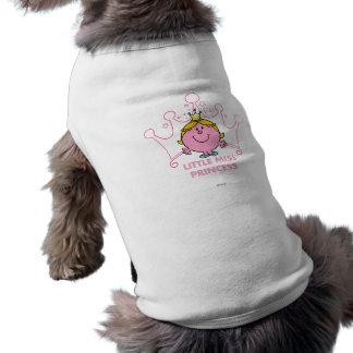 Pequeños corona acentuada del rosa cinco de la playera sin mangas para perro