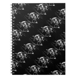 Pequeños cuadernos del espiral del pájaro MH-6
