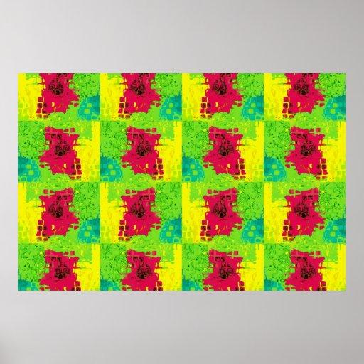 Pequeños cuadrados coloridos impresiones