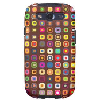pequenos de los quadrados de COM del padrão Galaxy S3 Fundas