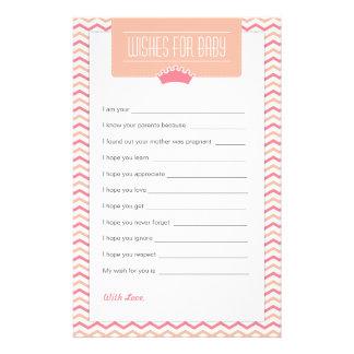 Pequeños deseos de la princesa fiesta de  papeleria de diseño