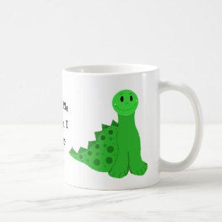Pequeños dinosaurios verdes taza clásica