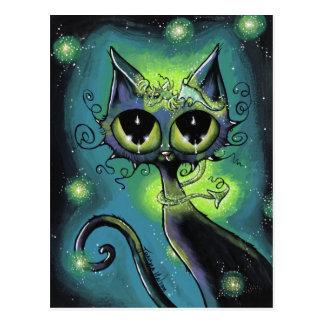 Pequeños dragón del amigo y postal mágicos del gat