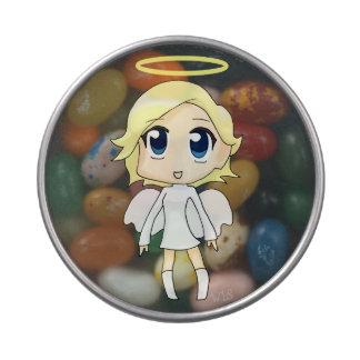 Pequeños dulces de los ángeles frascos de caramelos