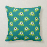 pequeños extranjeros lindos del ojo verde almohadas