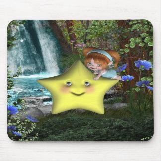 Pequeños fairys lindos 1 del bebé del bebé de Toon Alfombrillas De Raton