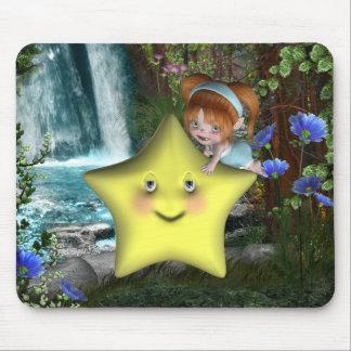 Pequeños fairys lindos 1 del bebé del bebé de Toon Tapete De Ratón