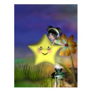Pequeños fairys lindos 1 del bebé del bebé de Toon Postales