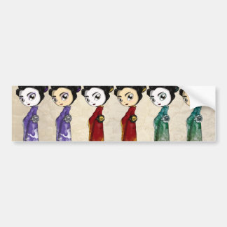 Pequeños geishas pegatina para auto