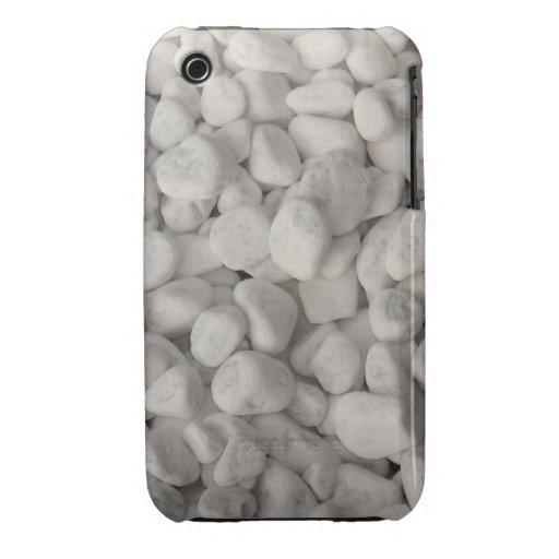 Pequeños guijarros blancos iPhone 3 funda