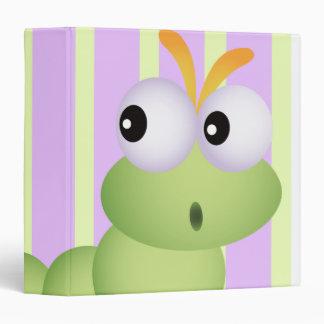 Pequeños gusano y cuaderno lindos de las rayas del