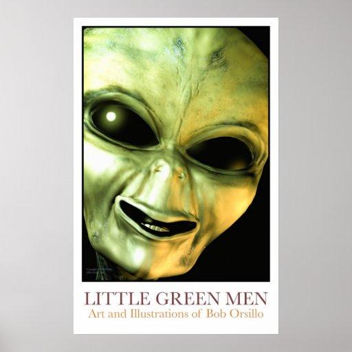 Pequeños hombres verdes póster