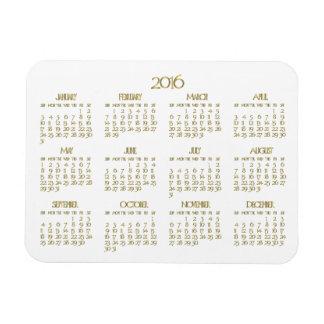 Pequeños imanes anuales del calendario 2016 del