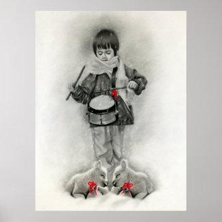 Pequeños impresión/poster del muchacho del batería