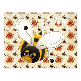 Pequeños lindos dulces manosean la abeja postales