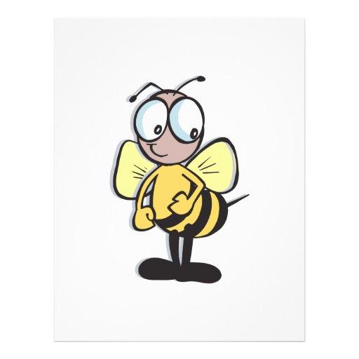 pequeños lindos manosean la abeja tarjetones