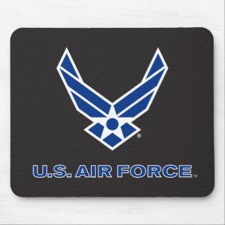 Pequeños logotipo y nombre azules de la fuerza alfombrillas de ratones